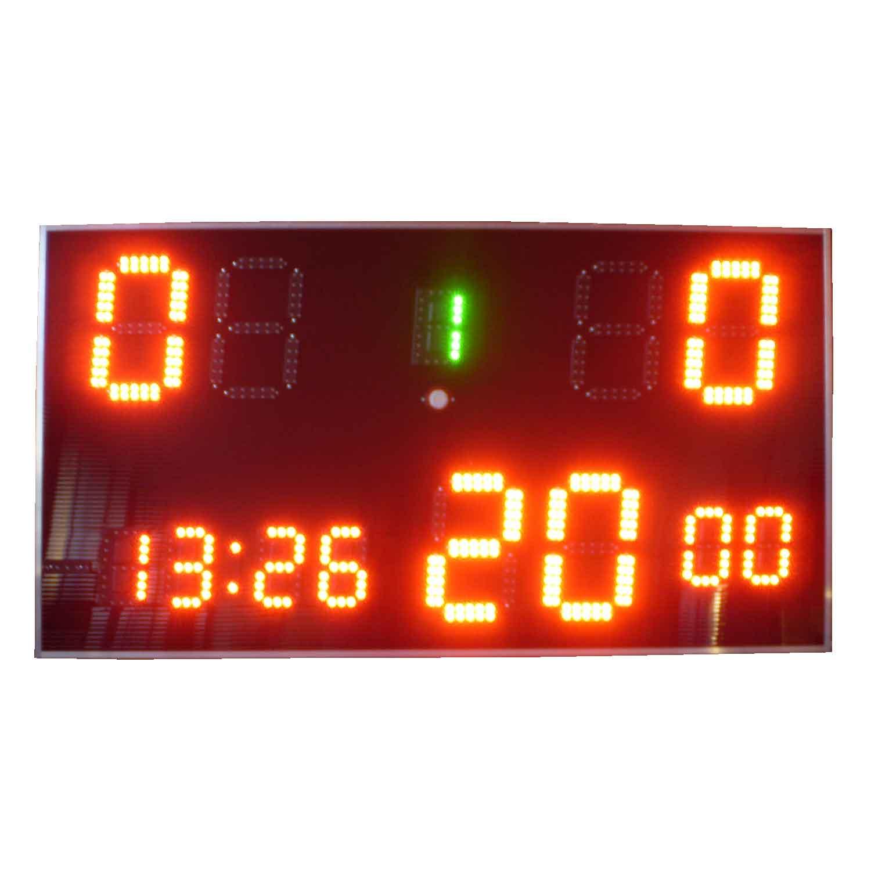 """Anzeigetafel """"Fußball Derby"""" mit Uhrzeit"""