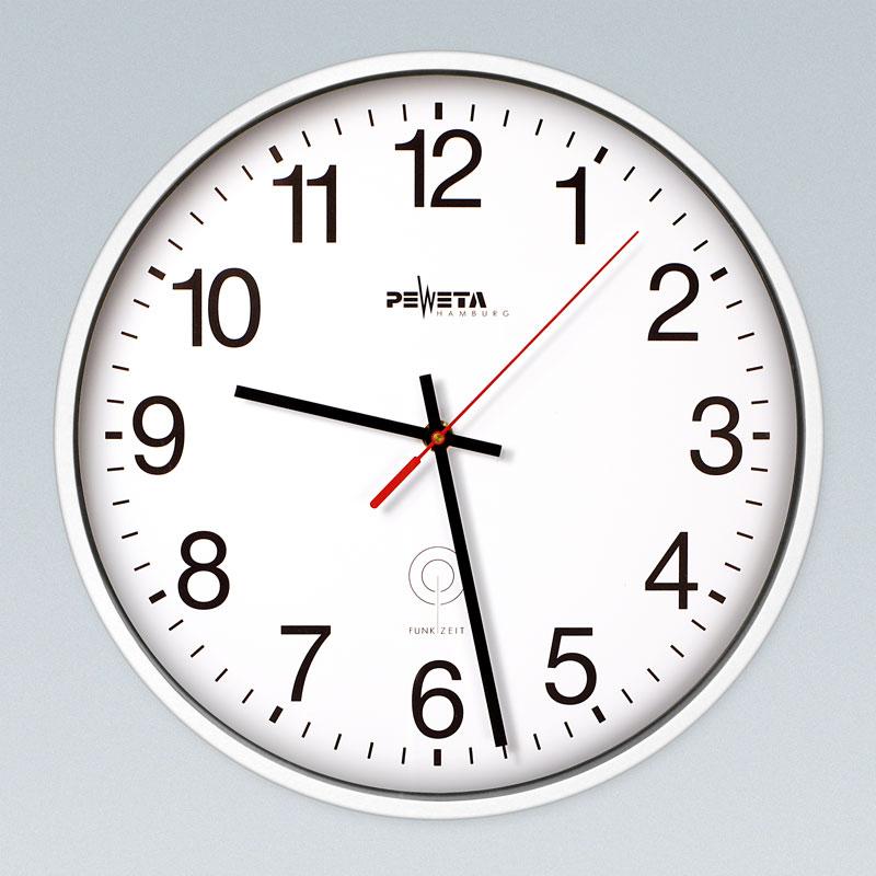 Funkwanduhr weiß 30 cm