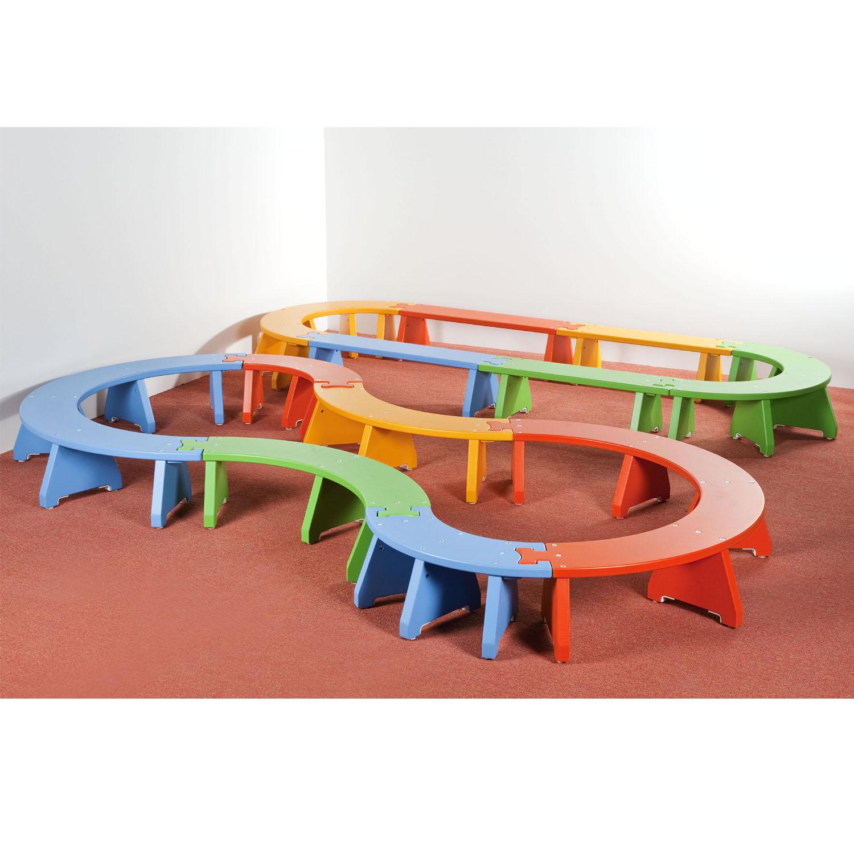 Puzzlebänkchen - Halbkreis klein