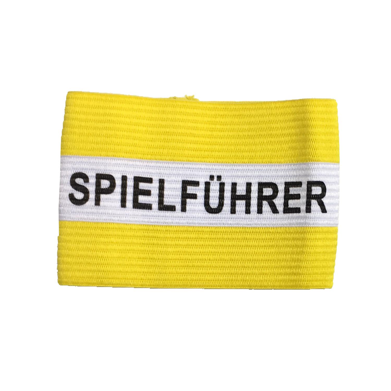 Kapitänsschleife gelb/weiß
