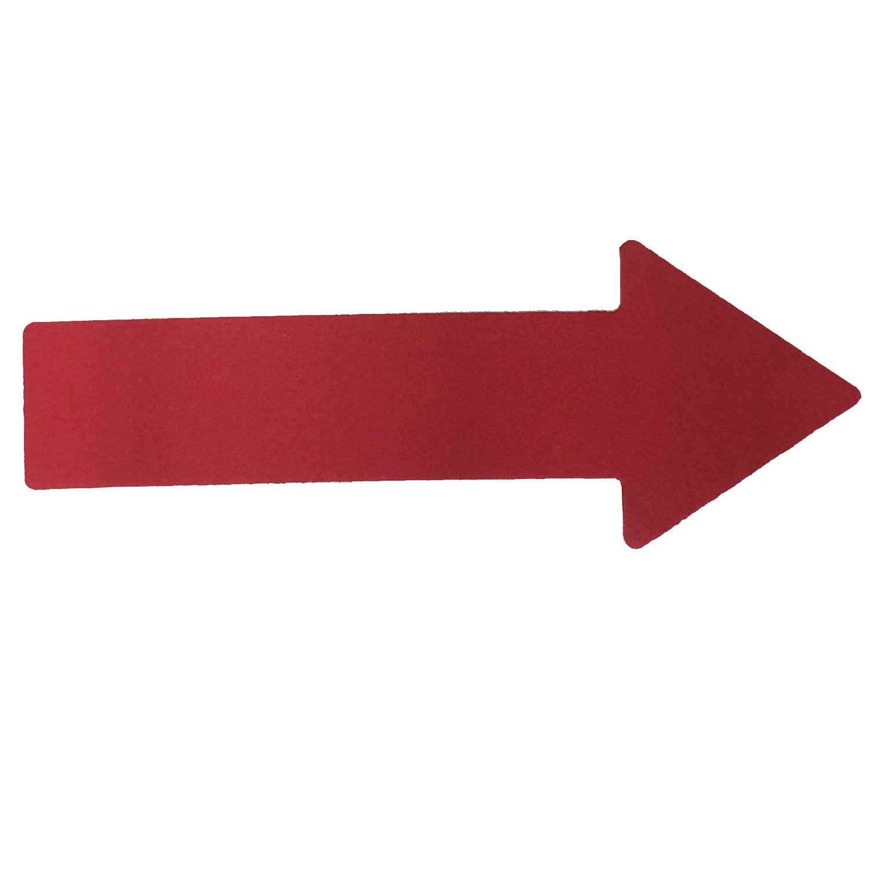 Bodenmarkierung Pfeil rot