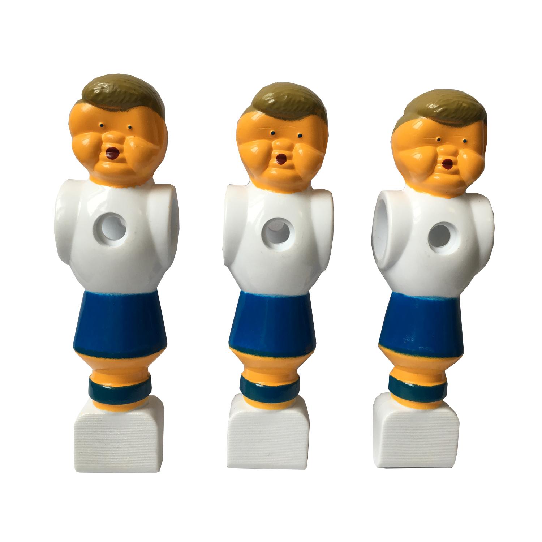 Fußball-Kickerfigur blau/weiß