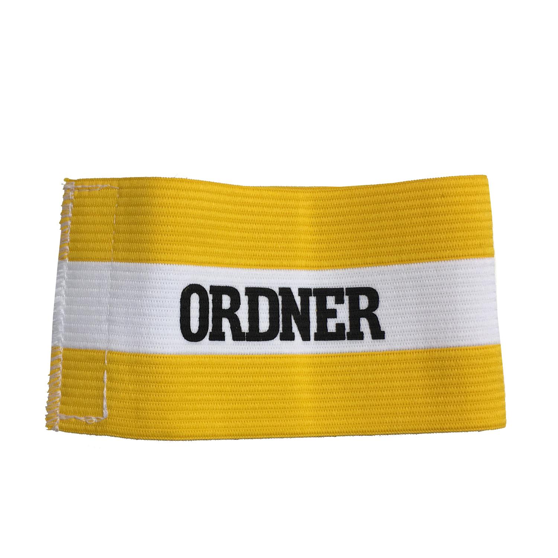 Ordnerbinde gelb/weiß