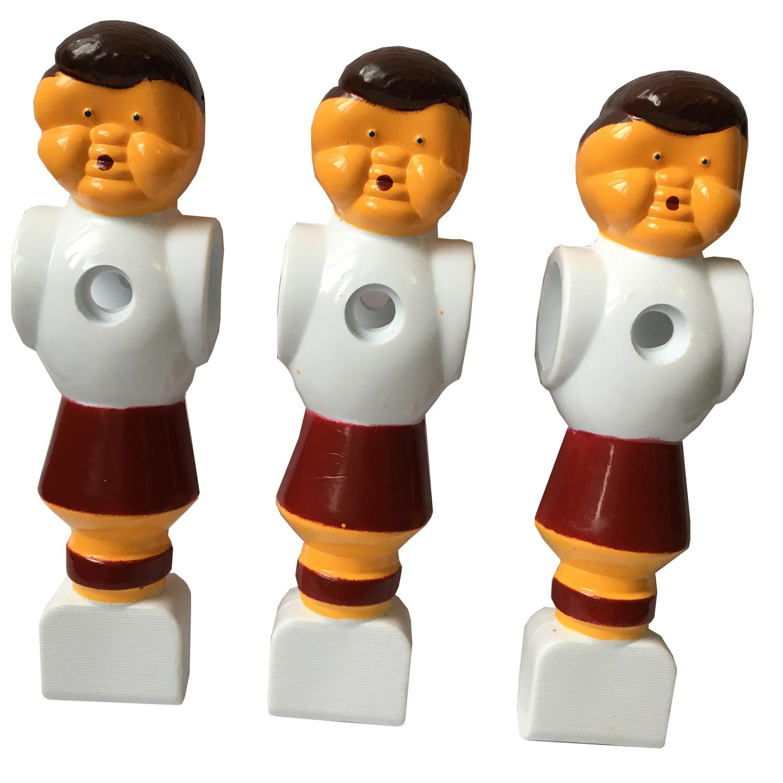 Fußball-Kickerfigur rot/weiß
