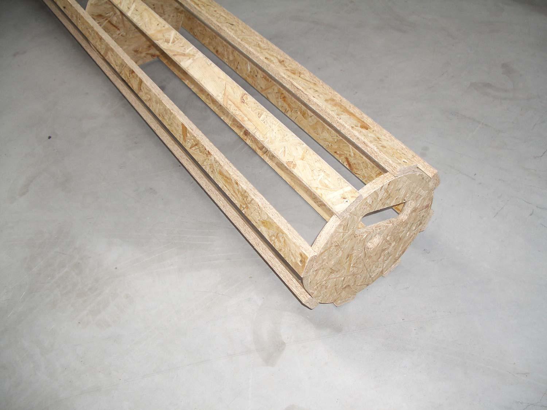 Bodenturnmatten-Holzaufrollkern