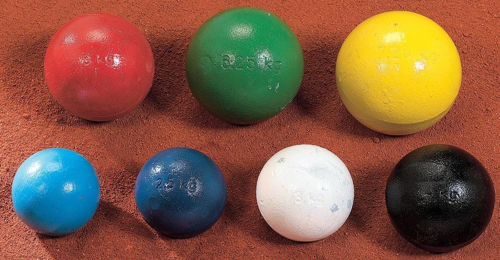 Trainings-Stoßkugel 2 kg blau